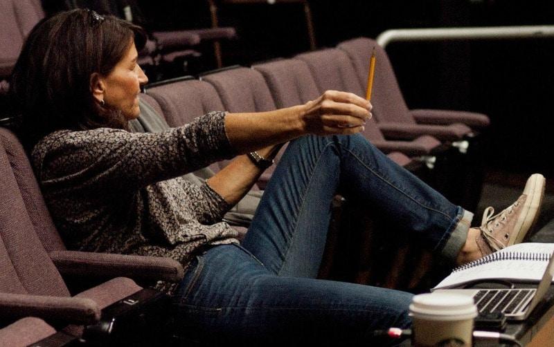 Brenda Billings in rehearsal at Miners Alley Playhouse.