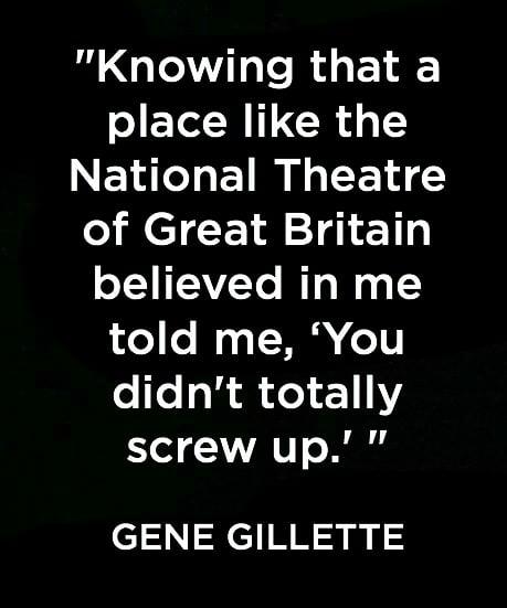 Gene Gillette quote.