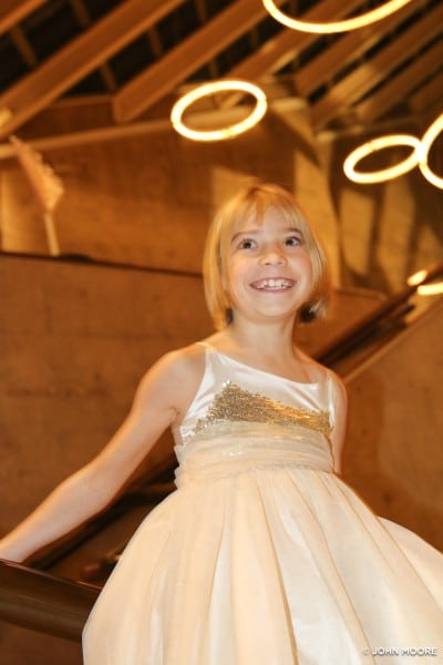 Peyton Goossen, who plays Tiny Tim, at the opening party. Photo by John Moore.