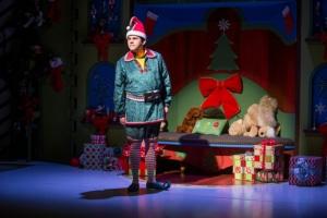 "Michael Bouchard in ""The SantaLand Diaries."" Photo Credit: AdamsVisCom."