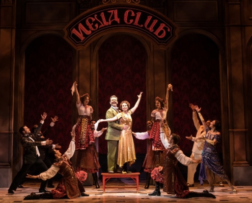 Edward Staudenmayer (Vlad), Tari Kelly (Countless Lily) and the company of the National Tour of ANASTASIA. Photo by Matthew Murphy, MurphyMade