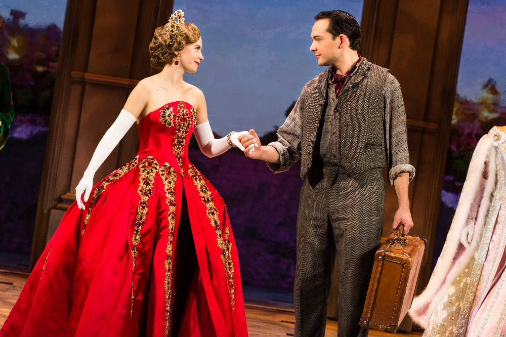 Lila Coogan (Anya) and Stephen Brower (Dmitry) in the National Tour of ANASTASIA. Photo by Evan Zimmerman, MurphyMade