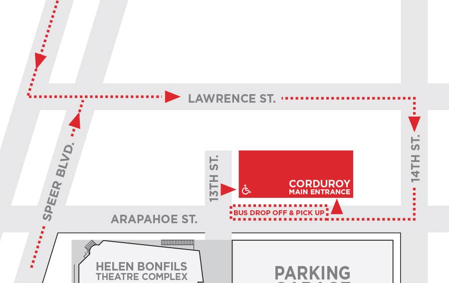 Corduroy bus map