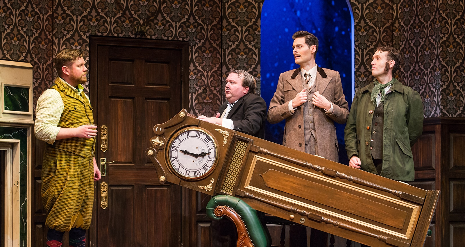 The Play That Goes Wrong National Tour. Photo by Jeremy Daniel.