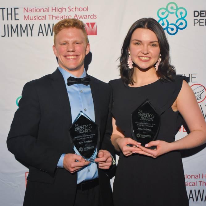 Award Winners: Abby Linderman and Kyler Hershman
