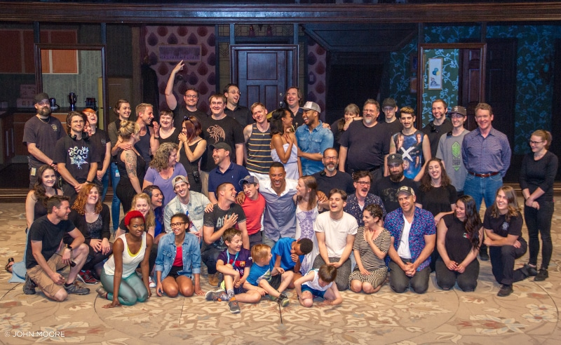 The cast and crew for the DCPA Theatre Company's 'The Who's Tommy.' Photo by John Moore for the DCPA NewsCenter.