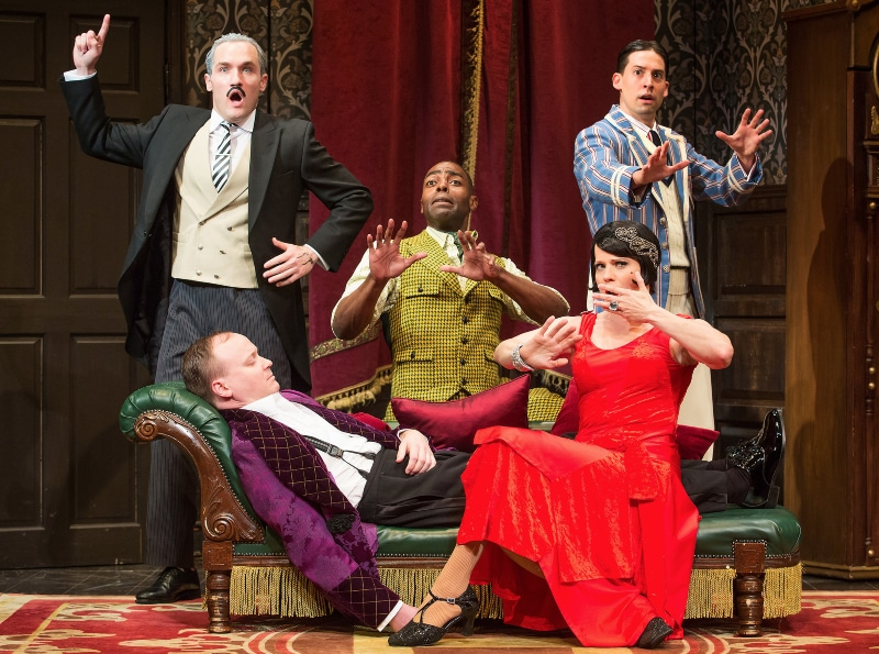 The Broadway company of 'The Play That Goes Wrong,' which comes to Denver next March. Photo by Jeremy Daniel.