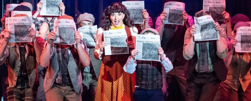 Harmony Livingston, who plays Katherine Plumber in Candlelight Dinner Playhouse's regional premiere of Disney's Newsies through Aug. 26, will next play Mary Poppins. Garland Photography
