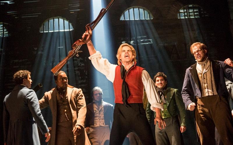Matt Shingledecker as Enjolras in the new Denver-bound national tour of 'Les Misérables.' It opens July 25. Photo by Matthew Murphy.