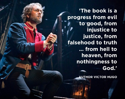 Nick Cartell as Jean Valjean in the national touring production of 'Les Misérables' coming to Denver. Photo by Matthew Murphy.