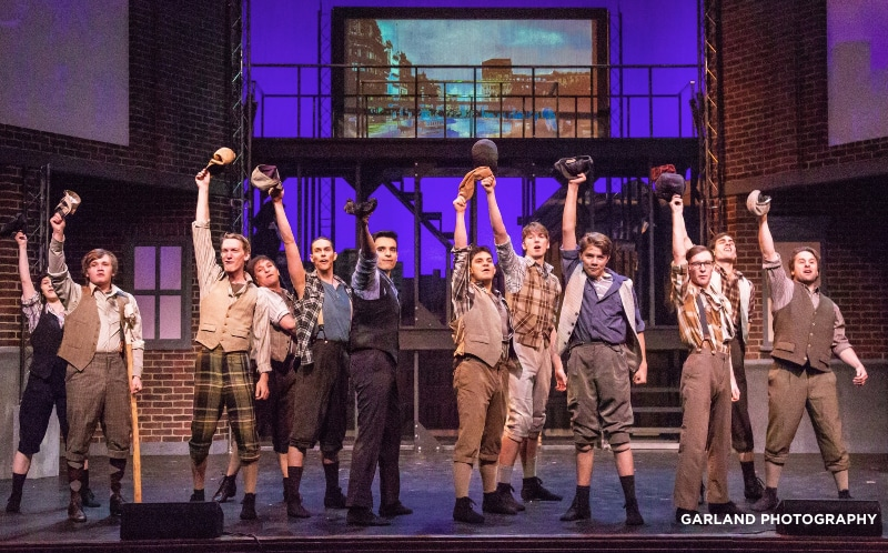 Candlelight Dinner Playhouse has just opened the Colorado premiere of 'Newsies' in Johnstown, located about 45 miles north of Denver. Garland Photography.