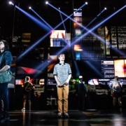 Ben Levi Ross and the Company of the First North American Tour of Dear Evan Hansen. Photo by Matthew Murphy. 2018