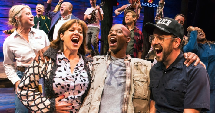 Members of the original Broadway cast of 'Come From Away.' Photo by Matthew Murphy.