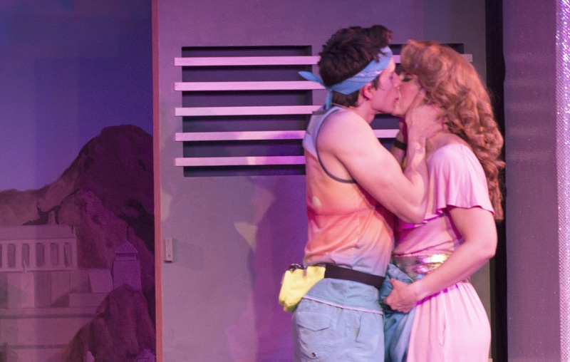 Marco Robinson and Lauren Shealy in the Denver Center's 'Xanadu.' Photo By Emily Lozow