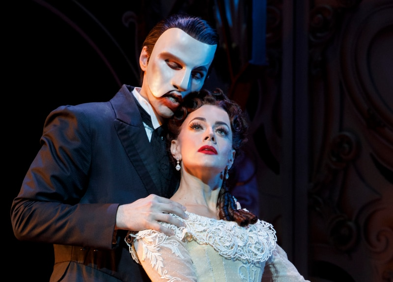 Love Never Dies Bronson Norris Murphy and Meghan Picerno. Photo by Joan Marcus.