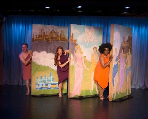 Aaron Vega, Sarah Rex and Sheryl McCallum in DCPA XANADU Photo By Emily Lozow
