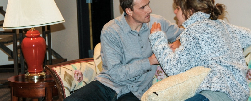 Angels in America Master Class. Andrew Covin and Lilia Vassileva-Eheart. Photo by John Moore