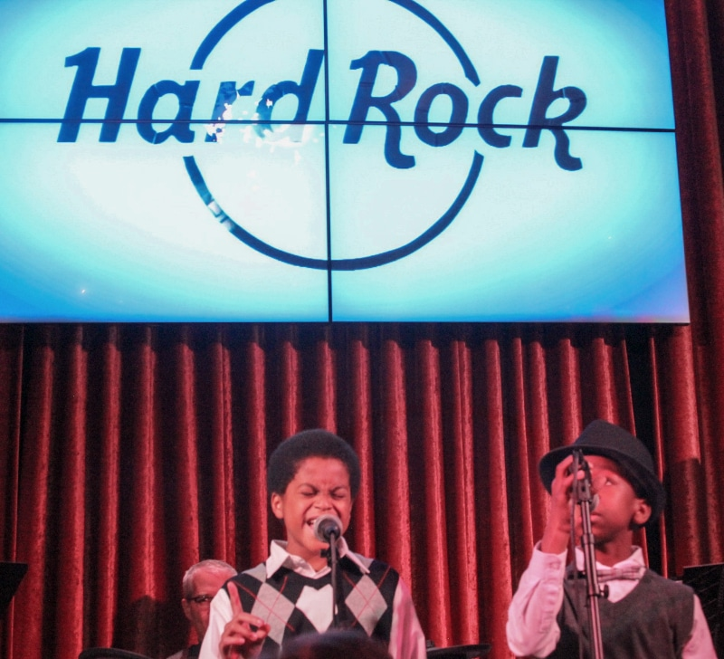 Cast members from 'Motown the Musical' performed at the Hard Rock Cafe in support of The Denver Actors Fund. Hard Rock Cafe. Photo by John Moore.