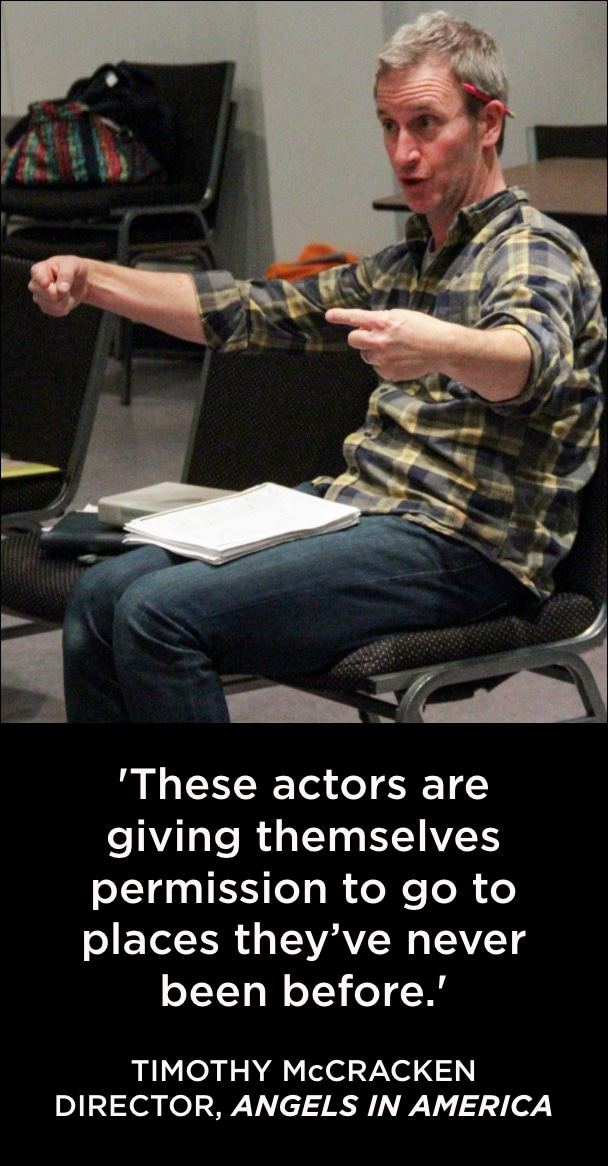 Quote Angels in America Master Class. Tim McCracken. Photo by John Moore