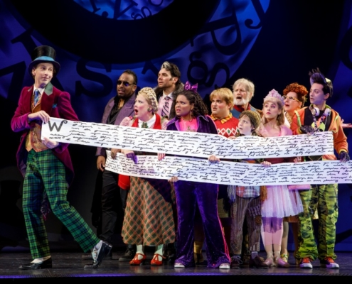 The cast of Roald Dahl's CHARLIE AND THE CHOCOLATE FACTORY. Photo by Joan Marcus