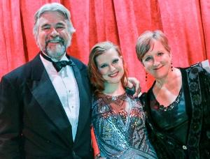 Philip Sneed with daughter Emily Van Fleet and wife Clare Henkel. Photo by John Moore.