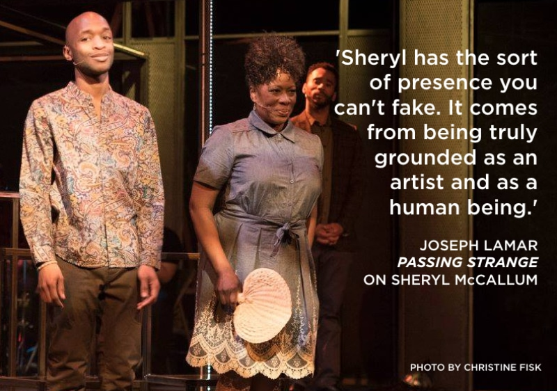 Sheryl McCallum in Passing Strange. Photo by Christine Fisk.