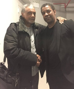 Charles Weldon reunited with 'Malcolm x' castmate Denzel Washington in 2016.