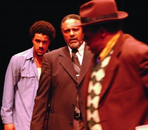 Charles Weldon, center, in 'Jitney' in 2002