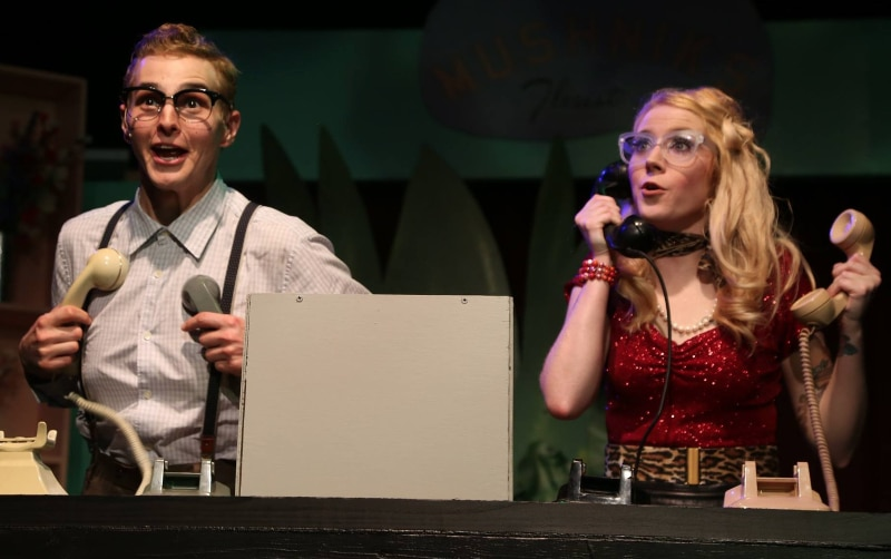 Matt Gnojek and Katelyn Kendrick. Little Shop of Horrors. Photo by Deb Flomberg.