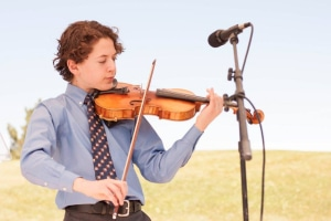 Teddy Meyer playing violin at at age 13 True West Awards