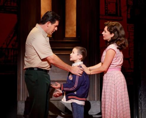 Richard H. Blake (Lorenzo), Frankie Leoni (Young C) and Michelle Aravena (Rosina) Photo: Joan Marcus