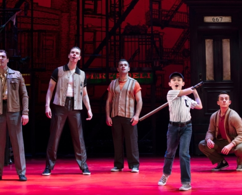 Giovanni DiGabriele, Sean Bell, Joseph Sammour, Frankie Leoni and Joshua Michael Burrage Photo: Joan Marcus