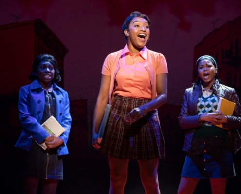 (front) Brianna-Marie Bell (Jane) with Brandi Porter and Ashley McManus Photo: Joan Marcus