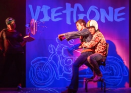 Melody Butiu, Glenn Morizio, Brian Lee Huynh in Vietgone. Photo by AdamsVisCom.