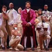 Bryson Bruce and the 'Hamilton' national touring production. 'Hamilton' first visited Denver in February 2018. It returns to The Buell Theatre in August 2020. Photo by Joan Marcus.