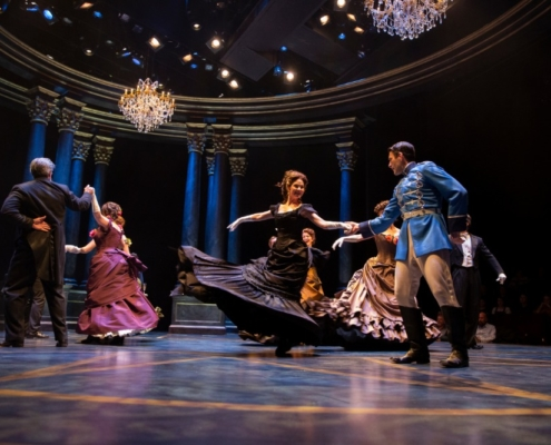 Kate MacCluggage, Patrick Zeller and the Company of ANNA KARENINA_Photo by AdamsVisCom