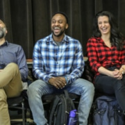 'The Whistleblower' cast at first rehearsal. Photo by John Moore.