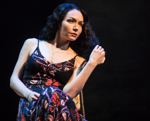Katrina Lenk in THE BAND'S VISIT, Photo by Matthew Murphy, 2017