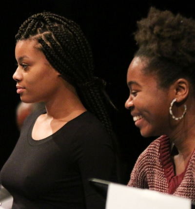 Nadia Ra'Shaun Williams and Ambyr Michelle McWilliams. Photo by John Moore.