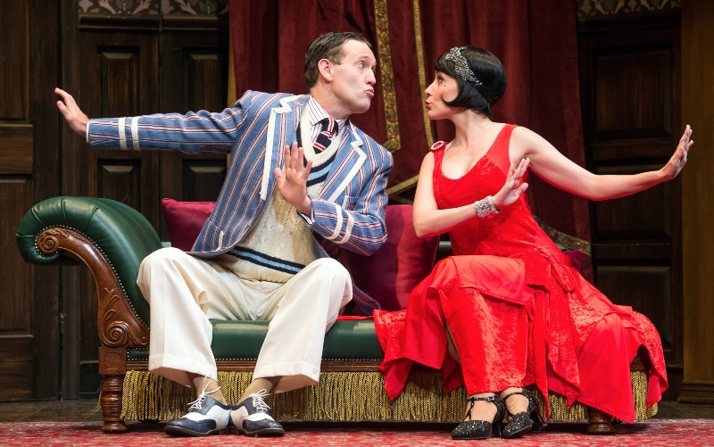 Ned Noyes and Jamie Ann Romero in the comedy 'The Play That Goes Wrong,' coming to Denver March 5-17.. Photo by Jeremy Daniel