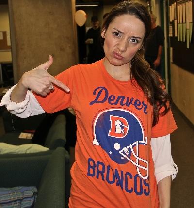 Jamie Anne Romero Broncos. Photo John Moore