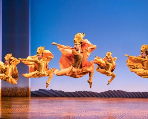 Lionesses Dance in THE LION KING North American Tour ©Disney. Photo by Deen van Meer