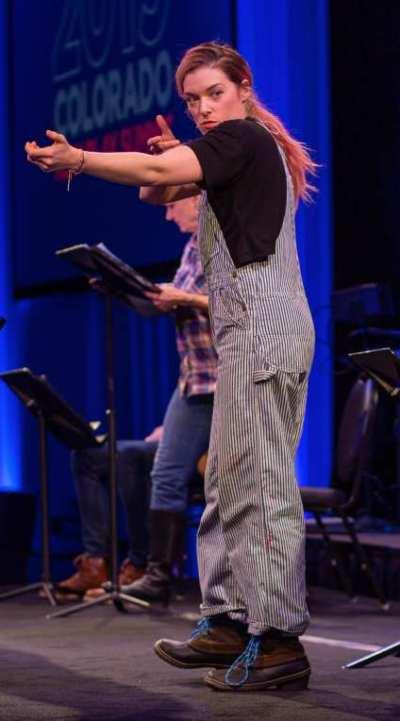 Mary Kate Morrissey as Rattlesnake Kate. Photo by Adams VisCom.