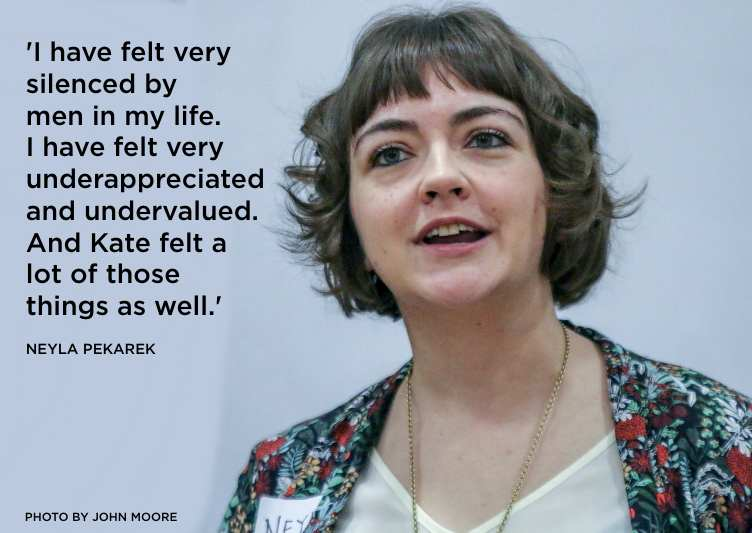 Neyla Pekarek Quote. Rattlesnake Kate. Colorado New Play Summit 2019. Photo by John Moore
