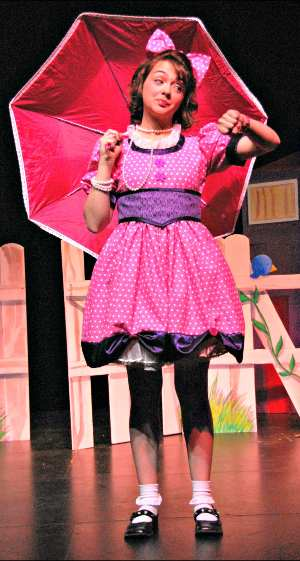 Neyla Pekarek in 'The Tomato Plant Girl' at the University of Northern Colorado.