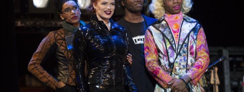 (L to R) Lencia Kebede, Lyndie Moe, Devinré Adams, Javon King RENT 20th Anniversary Tour, Credit Carol Rosegg 2018.