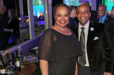 Michael Hancock and Mary Louise Lee at 2019 Saturday Night Alive. Photo by John Moore.