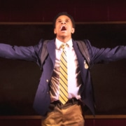 Jeremy Pope in the recent Broadway production of 'Choir Boy.' Photo by Matthew Murphy.