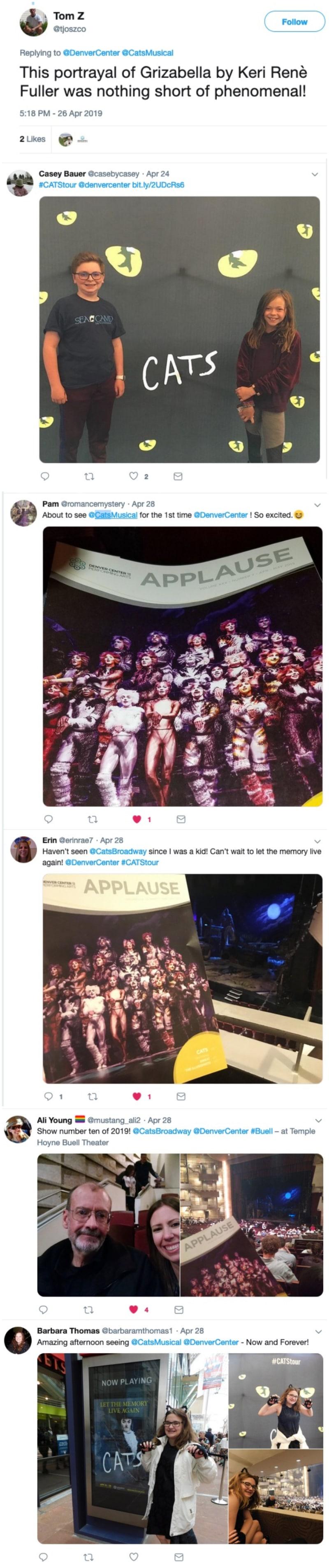 Cats tweets Denver 2019