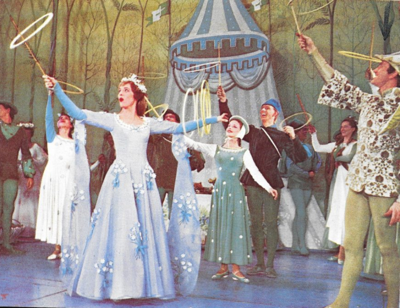 Julie Andrews and Gene GeBauer in Camelot
